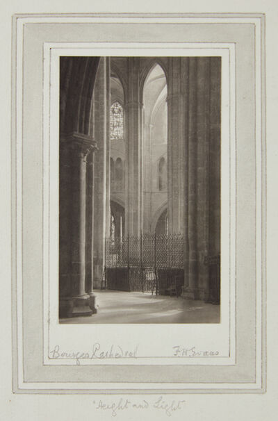 Frederick Henry Evans, 'Height and Light, Bourges Cathedral', 1906-1907