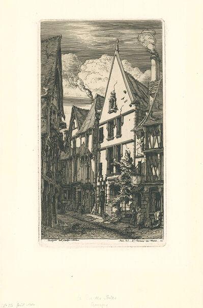 Charles Meryon, 'La rue des Toiles, à Bourges', 1853