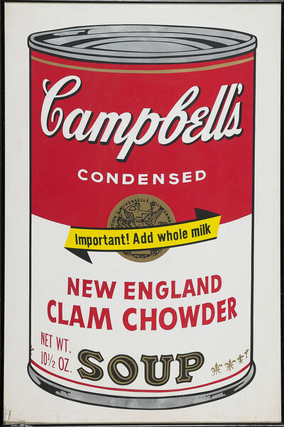 Andy Warhol, 'New England Clam Chowder from Campbell's Soup II', 1969