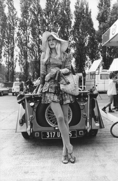 Globe Photo Archives, 'Brigitte Bardot Posing with Vintage Car', 1960-1970