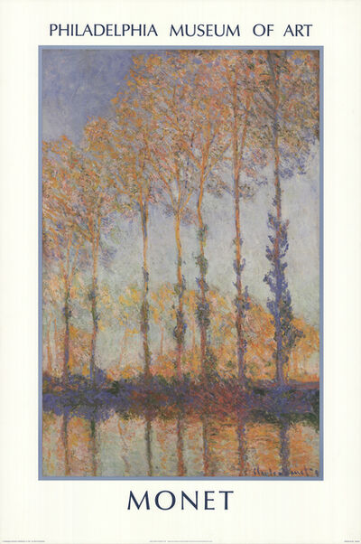 Claude Monet, 'Poplars on the Bank of the Epte River', 1987