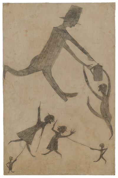 Bill Traylor, 'Untitled (Women Gossiping About Men Drinking)', 1939-1942