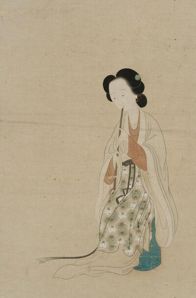 Gai Qi, 'Lady Playing a Flute', Undated