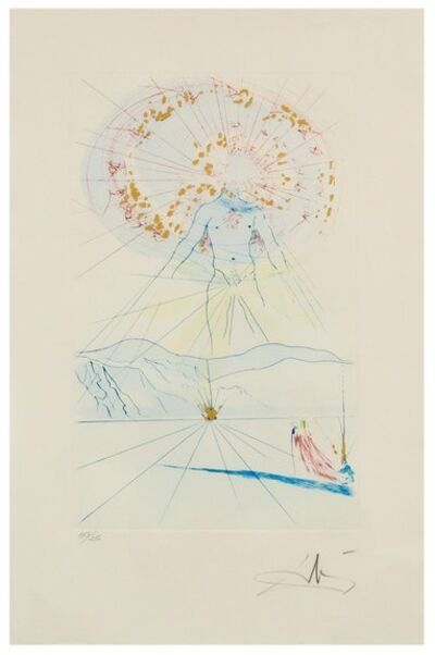 Salvador Dalí, 'Bridegroom Leaps Upon the Mountains', 1971