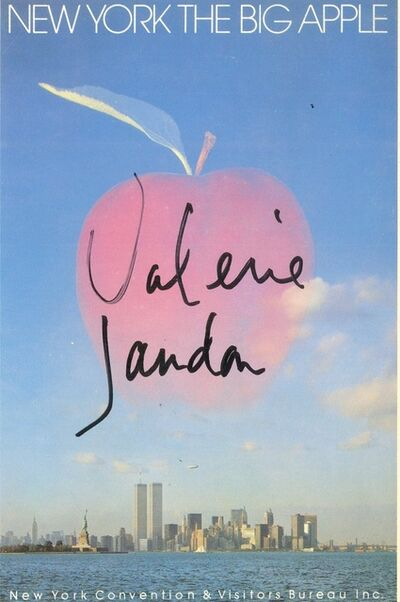 Valerie Jaudon, 'New York The Big Apple with Twin Towers (Hand Signed)', ca. 1987
