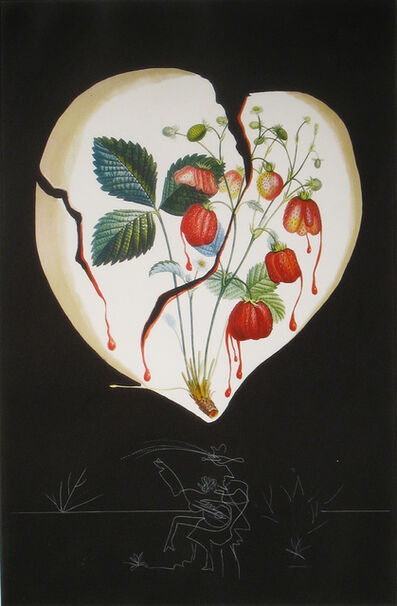 Salvador Dalí, 'Strawberries (Coeur de Fraises)', 1970