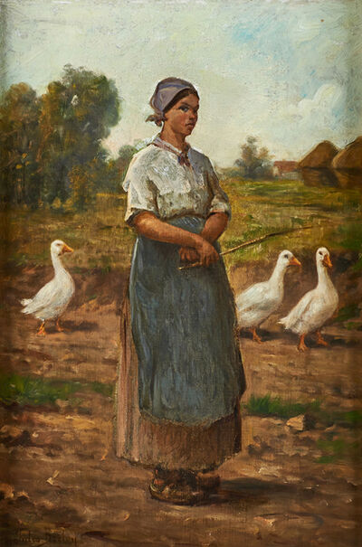 Jules Breton, 'Untitled (Girl with Geese)'