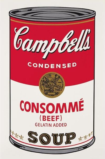 Andy Warhol, 'Consomme Beef Campbells Soup', 1968