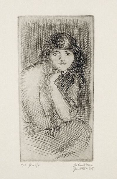 John Sloan, 'Woman with Hand to her Chin', ca. 1913