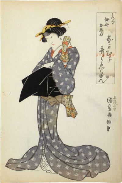 Utagawa Toyokuni III (Utagawa Kunisada), 'Actor Nakamura Utaemon III as Mitsugi's Aunt Omine', ca. 1814