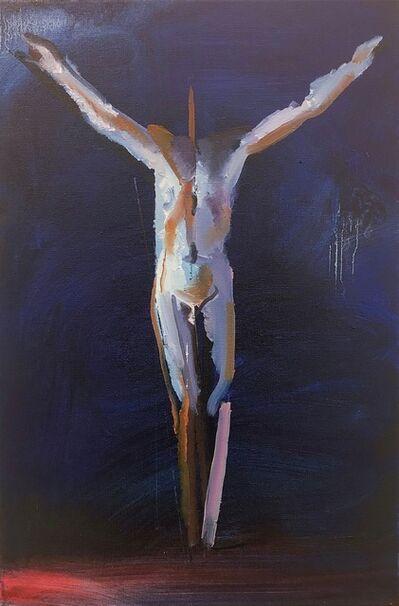 Rayk Goetze, 'Figur auf Blau', 2019
