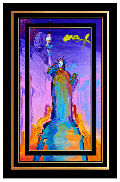 Peter Max, 'PETER MAX Original Signed PAINTING on CANVAS Acrylic STATUE OF LIBERTY Pop Art', 21st Century