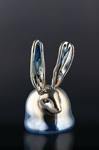 Hunt Slonem, 'Chrome Blue Bunny', 2020