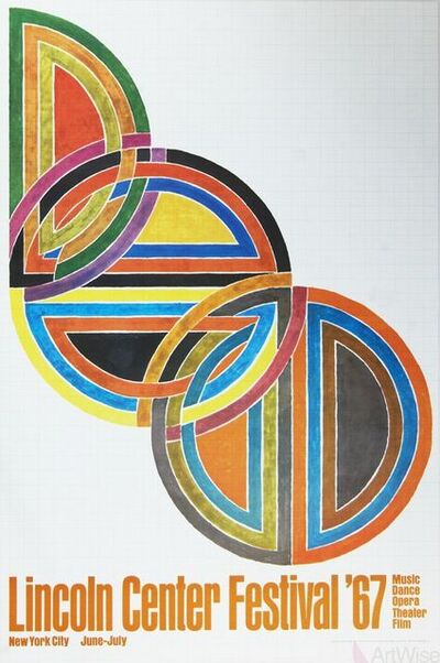 Frank Stella, 'Lincoln Center Festival', 1967