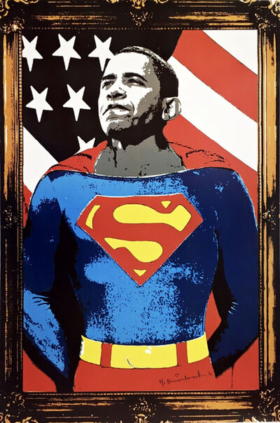 Mr. Brainwash, 'Obama Superman, Signed', 2008