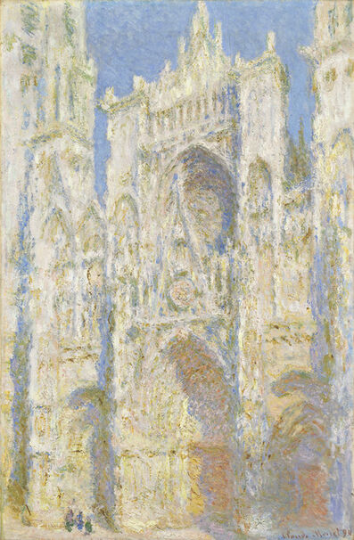Claude Monet, 'Rouen Cathedral, West Façade, Sunlight', 1894