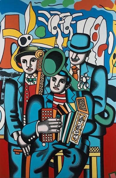 Erró, 'L'Orchestre avec 3 profils', 1987