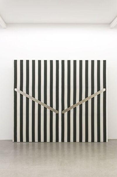 """Daniel Buren, 'Panneaux avec découpes Série """"Corridorscope"""", N° A04 & A06', 1983"""