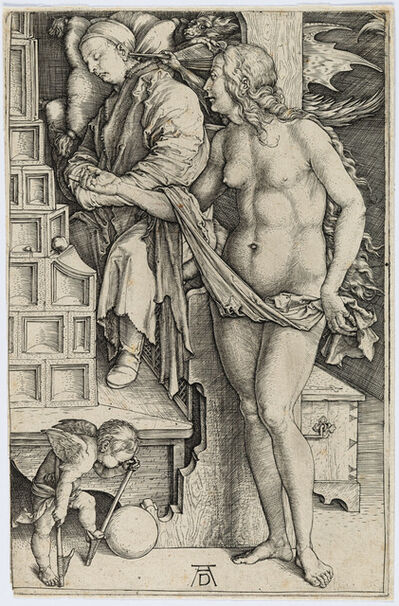 Albrecht Dürer, 'Dream of the Doctor (Temptation of the Idler)', 1498