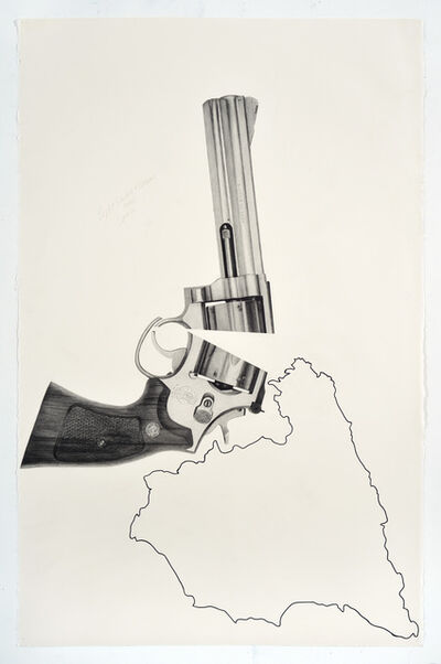 Karl Haendel, 'Split Smith & Wesson Over Spain', 2018