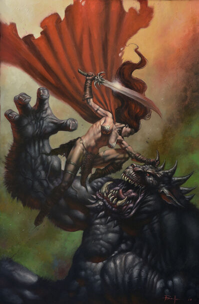 Lucio Parrillo, 'Red Sonja Cover - Issue #18', 2014