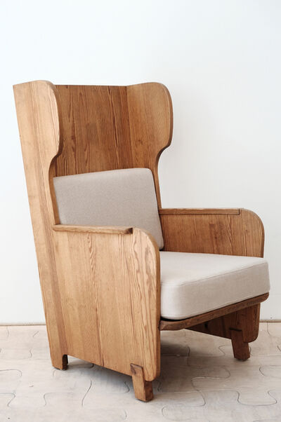 Axel Einar Hjorth, 'High back armchair in Nordic pine from the Lovö series', ca. 1932