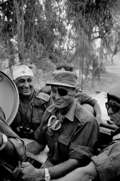 Micha Bar-Am, 'Crossing the Suez Canal (Ariel Sharon and Moshe Dayan)', 1973