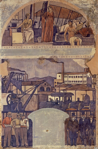 "Joaquín Torres-García, 'Design for the fresco ""La Catalunya Industrial"" (The industrial Catalonia)', 1917"