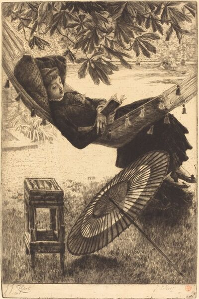James Jacques-Joseph Tissot, 'The Hammock (Le hamac)', 1880