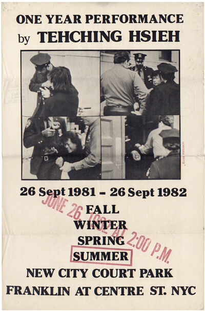 Tehching Hsieh, 'Sam Hsieh, One Year Performance: Outdoors - Summer, Poster', 1982