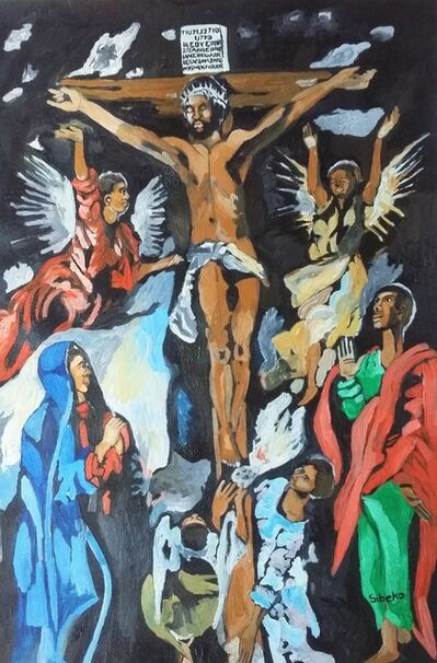 Thabo Sibeko, 'African Renaissance Series- re imagining the Old Masters The Crucifixion by El Greco', 2019