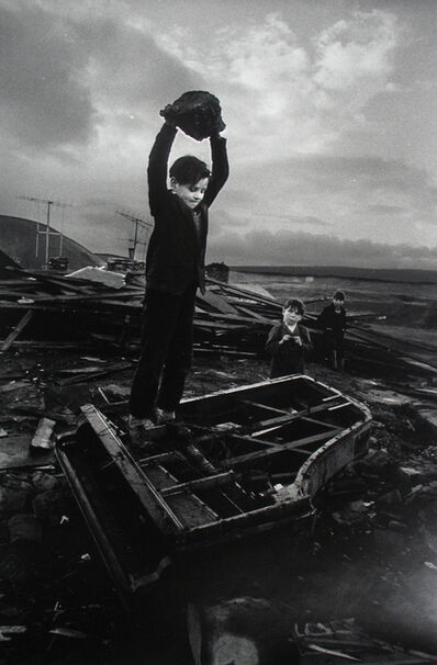 Philip Jones Griffiths, 'Boy Destroying Piano, Wales', 1961