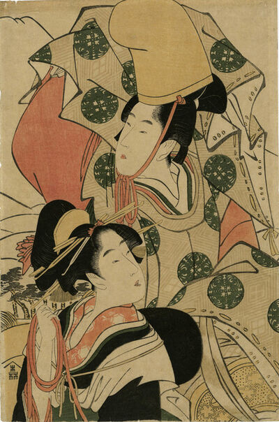 "Kitagawa Utamaro, 'Parody of ""Narihira's Journey to the East"" (Mitate Azuma-kudari)', 1797-1798"