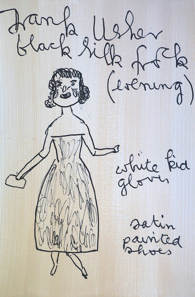 Rose Wylie, 'Girl Now Meets Girl Then', 2019