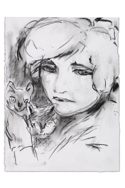 Connie Fox, 'Self as Colette with Cats', 2007