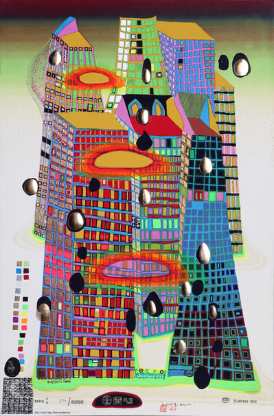 Friedensreich Hundertwasser, 'Good Morning City / Bleeding Town', 1971