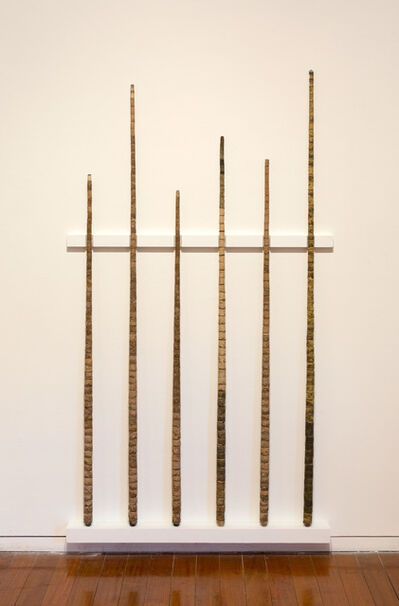 Hany Armanious, 'Literature Review (pool cues from Year of the Pig Sty)', 2009