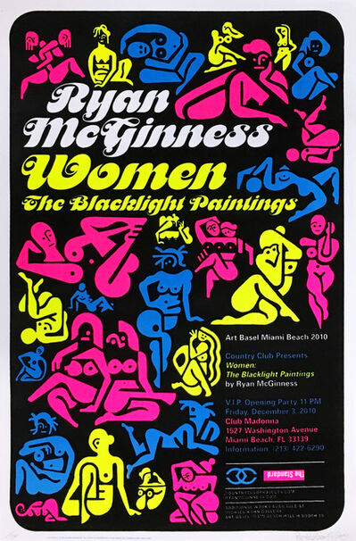 Ryan McGinness, 'Ryan McGiness Women Screenprint (Neon)', 2010