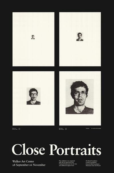 Chuck Close, 'Close Portraits (Bob I - Bob IV)', 1980