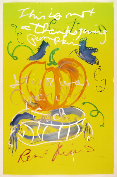 Rene Ricard, 'This is not a thanksgiving pumpkin...It is or was Cinderella's coach', 1989