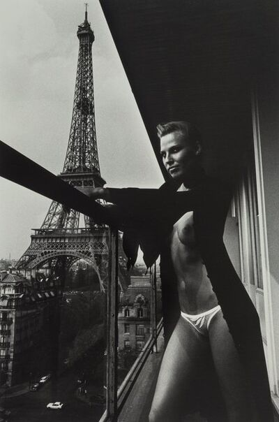 Helmut Newton, 'Model and Meccano Set, Paris'