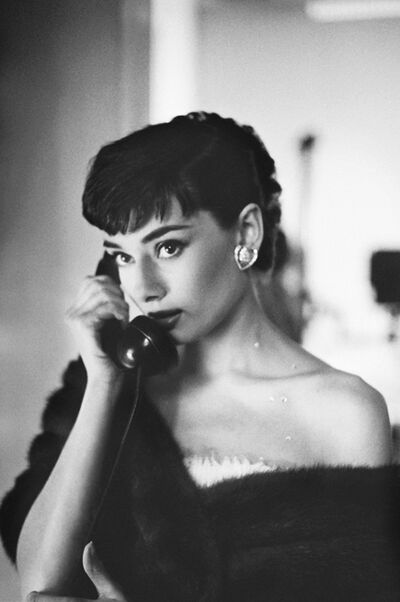 Bob Willoughby, 'Audrey Hepburn, on Telephone, Paramount Studios', 1953