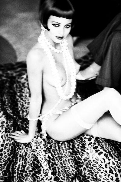 Ellen von Unwerth, 'Maria Luisa with white Pearls, new York', 1992