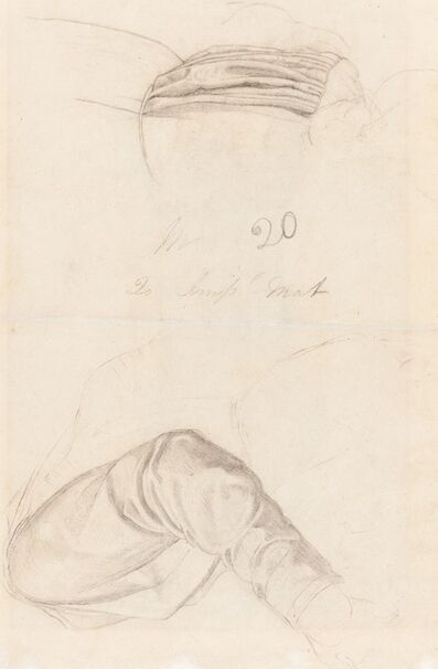 Ford Madox Brown, 'Two Drapery Studies [verso]', ca. 1844