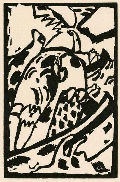 "Wassily Kandinsky, 'Wood Engraving for ""Klaenge""', 1975"