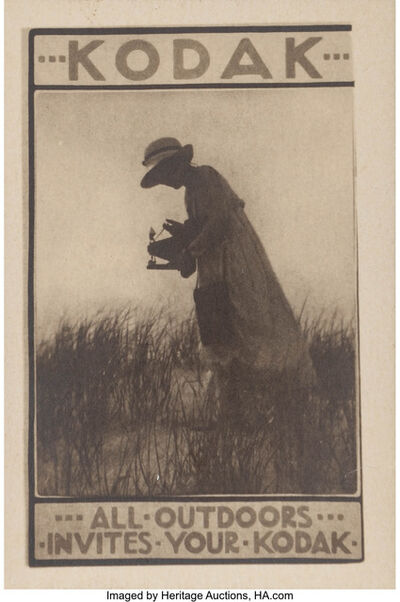 Karl Struss, 'Kodak- All Outdoors Invites Your Kodak', circa 1913