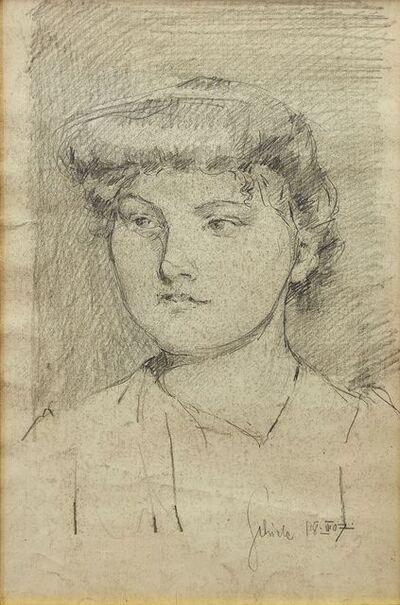 Egon Schiele, 'Portrait eines jungen Madchens' (Portrait of a young girl)'