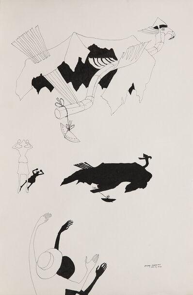 Benny Andrews, 'Circle Study #46', 1973