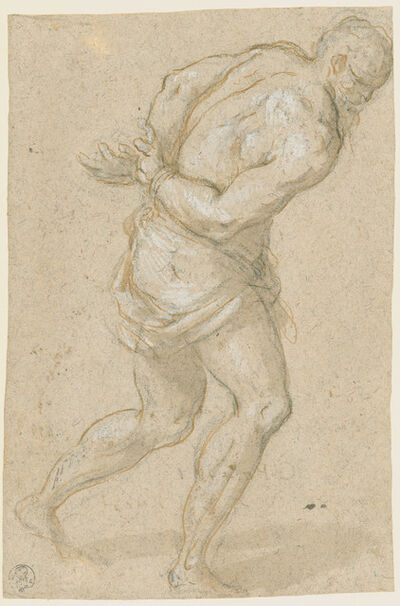 Jacopo Palma il Giovane, 'Male Figure with Hands behind his Back, ', ca. 1620