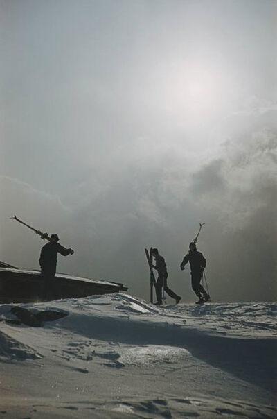 Slim Aarons, 'Cranmore Mountain Skiers ', 1955